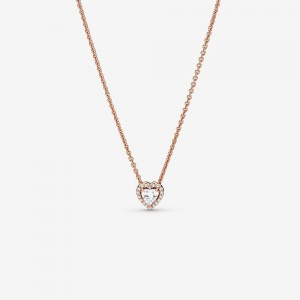 Pandora Sparkling Heart Collier Necklace