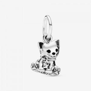 Pandora Kitty-Cat Dangle Charm