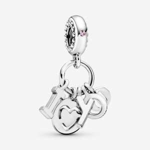 Pandora I Love You Letters Dangle Charm