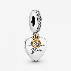 Pandora I Love You Forever Heart Dangle Charm