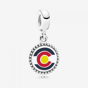 Pandora Colorado Flag Dangle Charm, Mixed Enamel