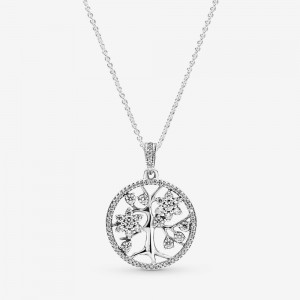 Pandora Sparkling Family Tree Necklace