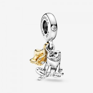 Pandora Disney Princess Tiana Frog Prince Dangle Charm