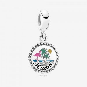 Pandora Miami Beach Dangle Charm, Mixed Enamel