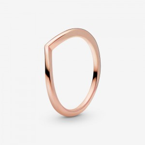 Pandora Polished Wishbone Ring Rose Gold