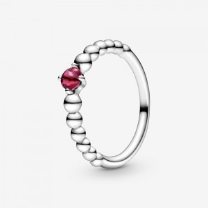 Pandora July Blazing Red Beaded Ring Red