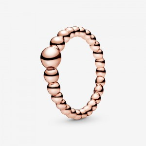 Pandora String of Beads Ring Rose Gold