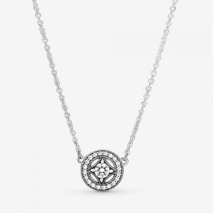 Pandora Vintage Circle Collier Necklace Silver