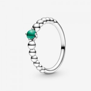 Pandora May Rainforest Green Beaded Ring Green