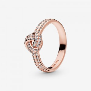 Pandora Shimmering Knot Ring Rose Gold