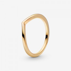 Pandora Polished Wishbone Ring Gold