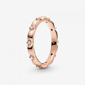 Pandora Flower Petals Band Ring - FINAL SALE Rose Gold