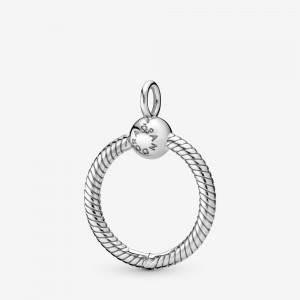 Pandora Pandora Moments Small O Pendant Silver