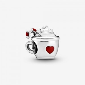 Pandora Cocoa and Candy Cane Charm