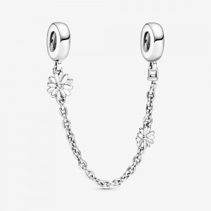 Pandora Daisy Flower Safety Chain Charm