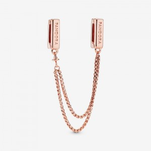Pandora Safety Chain Clip Charm Rose Gold