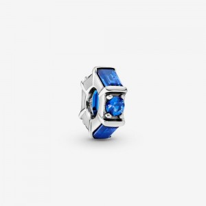 Pandora Blue Ice Cube Spacer Charm