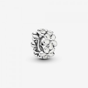 Pandora White Daisy Flower Spacer Charm
