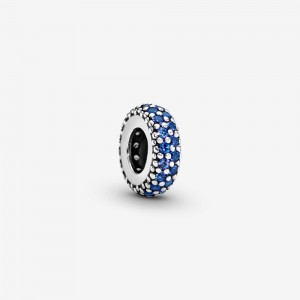Pandora Blue Sparkle Spacer Charm Blue