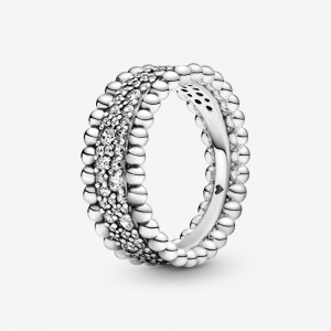 Pandora Beaded Pavé Band Ring