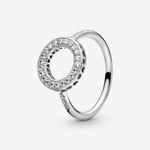 Pandora Sparkling Halo Ring Silver