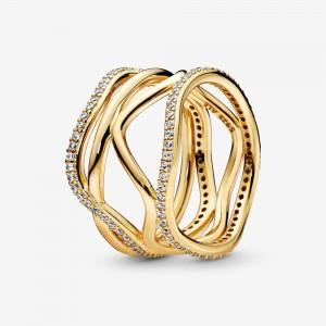 Pandora Swirling Lines Ring