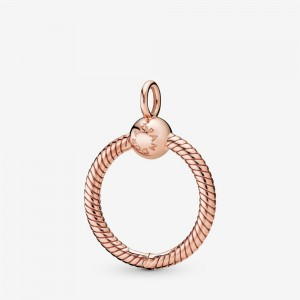 Pandora Pandora Moments Small O Pendant Rose Gold