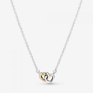 Pandora Interlocked Hearts Collier Necklace