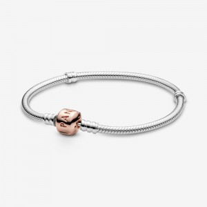 Pandora Pandora Moments Snake Chain Bracelet Two Tone