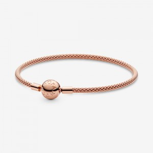 Pandora Pandora Moments Mesh Bracelet Rose Gold