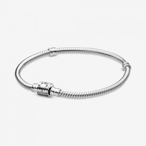 Pandora Pandora Moments Barrel Clasp Snake Chain Bracelet