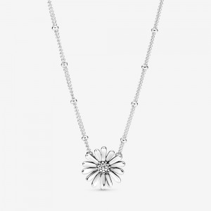 Pandora Pavé Daisy Flower Collier Necklace