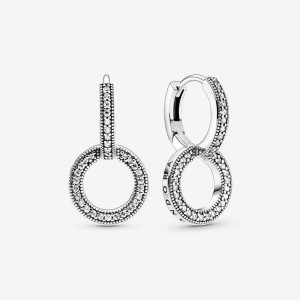 Pandora Sparkling Double Hoop Earrings