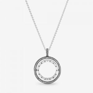 Pandora Pandora Logo Circle Necklace