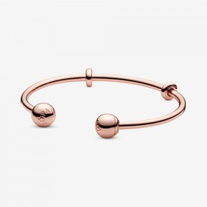 Pandora Pandora Moments Open Bangle Rose Gold