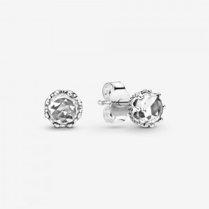 Pandora Clear Sparkling Crown Stud Earrings