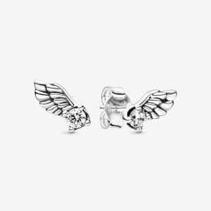 Pandora Sparkling Angel Wing Stud Earrings