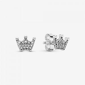 Pandora Crown Stud Earrings