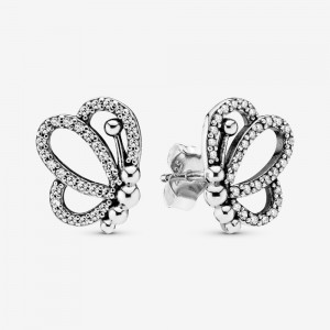 Pandora Sparkling Openwork Butterfly Stud Earrings