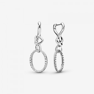 Pandora Oval Knotted Heart Drop Earrings