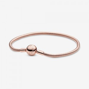 Pandora Pandora Moments Snake Chain Bracelet Rose Gold