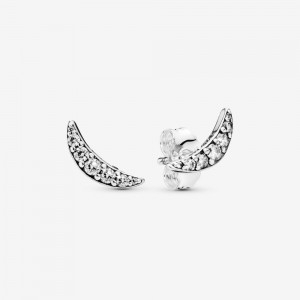 Pandora Sparkling Crescent Moon Earrings
