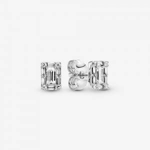 Pandora Sparkling Square Halo Stud Earrings - FINAL SALE