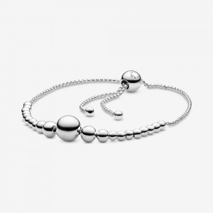Pandora String of Beads Slider Bracelet Silver