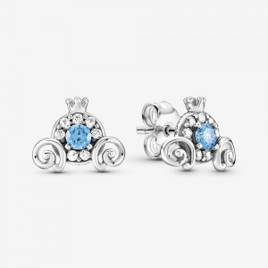 Pandora Disney Cinderella Pumpkin Coach Stud Earrings