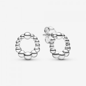 Pandora Beaded Circle Stud Earrings