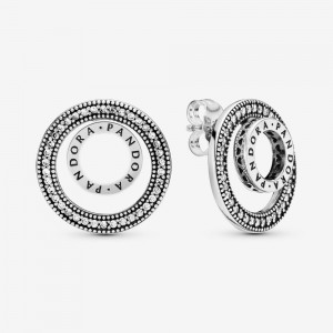 Pandora Pandora Logo Circle Stud Earrings