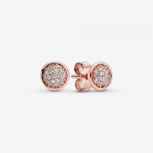 Pandora PavéStud Earrings Rose Gold