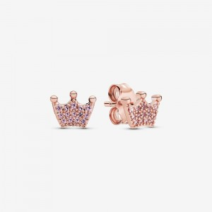Pandora Pink Crown Stud Earrings