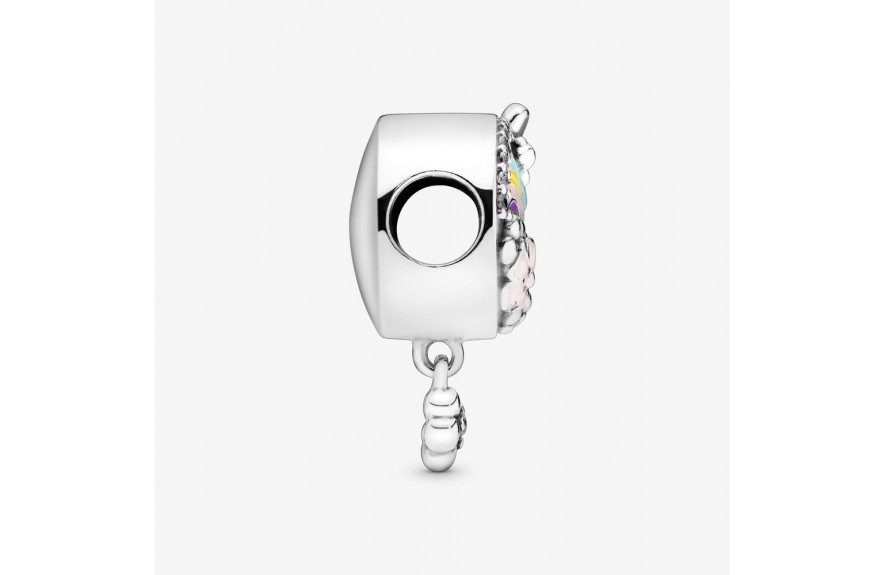 Pandora Rainbow and Flower Dangle Charm